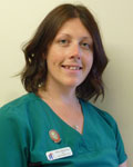 Helen Molyneux, nurse at All Creatures Veterinary Centre